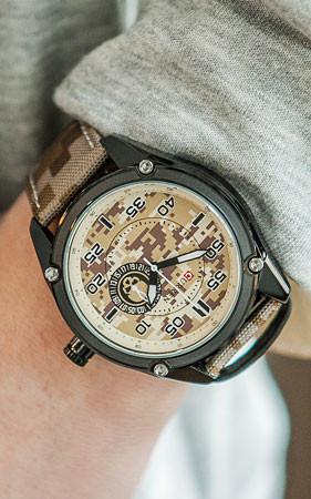 デジタルカモ腕時計
