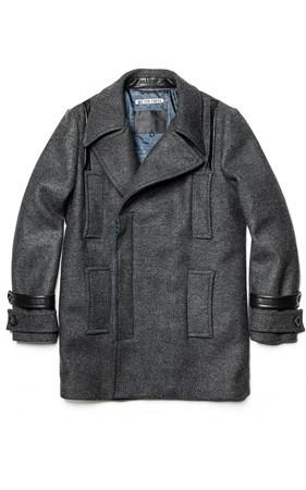 ワキスロバキアマルチポケット袖配色コート