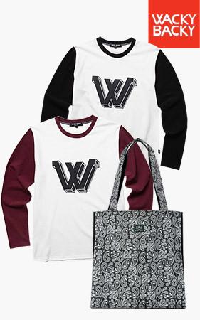 [1 + 1数量限定グッドクオリティ30set] <br> W捺染配色ティーシャツ+スケルトンペイズリーショルダーバッグ