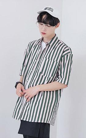 【今日の一日先着100名様】 <br>配色ストライプシャツ