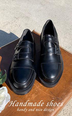 ダブルモンクストラップ手作り靴