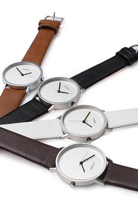ホワイトラウンド腕時計