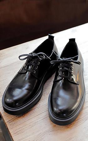 4.5cmカーフスキンダービーシューズ手作り靴