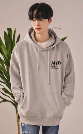 AFFIX起毛ボックスピットフードティーシャツ