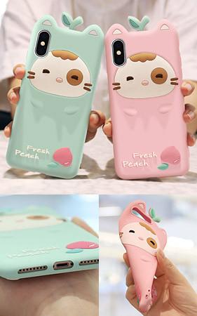 桃色猫iPhoneのケース