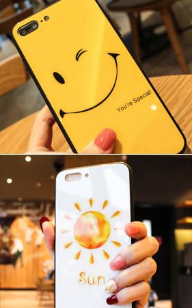 イエロースマイルiPhoneのケース