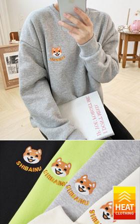 芝ポイントオーバーフィット起毛スエットシャツ<br> 1 + 1のお買い上げ2千ウォン追加割引