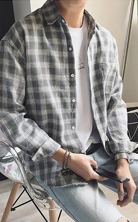マドレーヌチェックシャツ