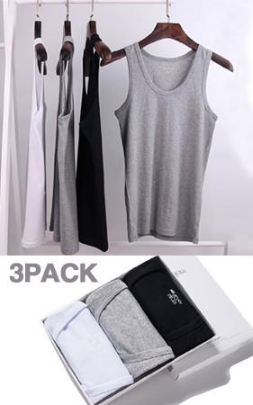 <B>STANDARD</b> <BR> M、L、XL、2XL <br> 365デイリーベーシック袖なし3 PACK
