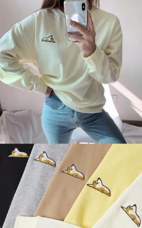 ウェルシコギオーバーフィット起毛スエットシャツ<br> 1 + 1のお買い上げ2千ウォン追加割引