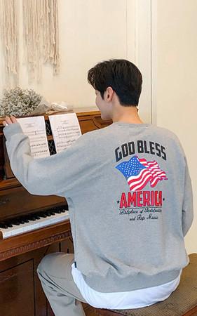 Americaボックスピットスエットシャツ
