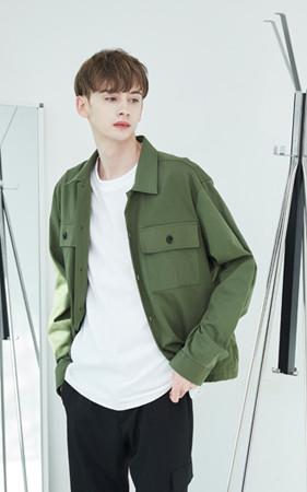 ジオツーボタンシャツジャケット