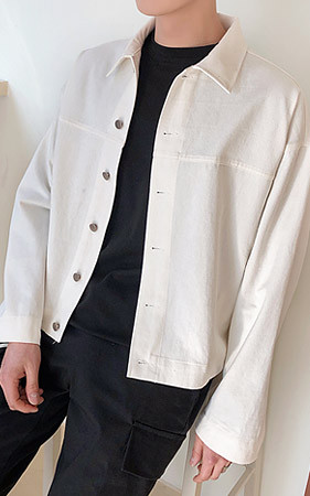 ボックスコットントラ大きくジャケット