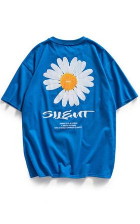フラワースウェット半そでティーシャツ